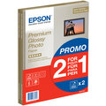 Epson Foto papír Premium Glossy, A4, 2x15 ks, 255g/m2, lesklý