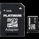 PLATINUM Micro SDHC 32GB Class 6 + adaptér