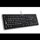 Connect IT LED bíle podsvícená klávesnice, USB