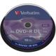 Verbatim DVD+R DL 8x 8,5GB spindl 10ks (43666)