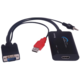 PremiumCord konvertor VGA+audio na HDMI