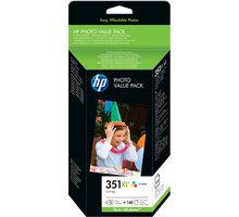 HP Q8848EE, barevná, č. 351XL + 140 ks 10x15 cm photo paper