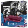 PlayStation 3 - 500GB červená + Watch Dogs