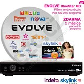 Evolveo BlueStar HD + Skylink HD karta (balíček Multi a HD Plus)