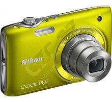 Nikon Coolpix S3100, žlutý